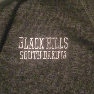 Black and dark gray zippered sweatshirt